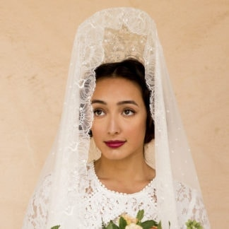 wedding mantilla veil