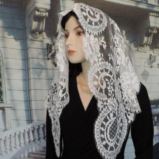 Elegant lace chapel veil