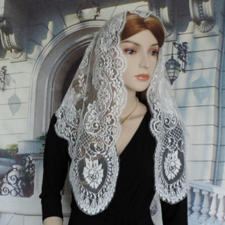 Spanish lace chapel veil