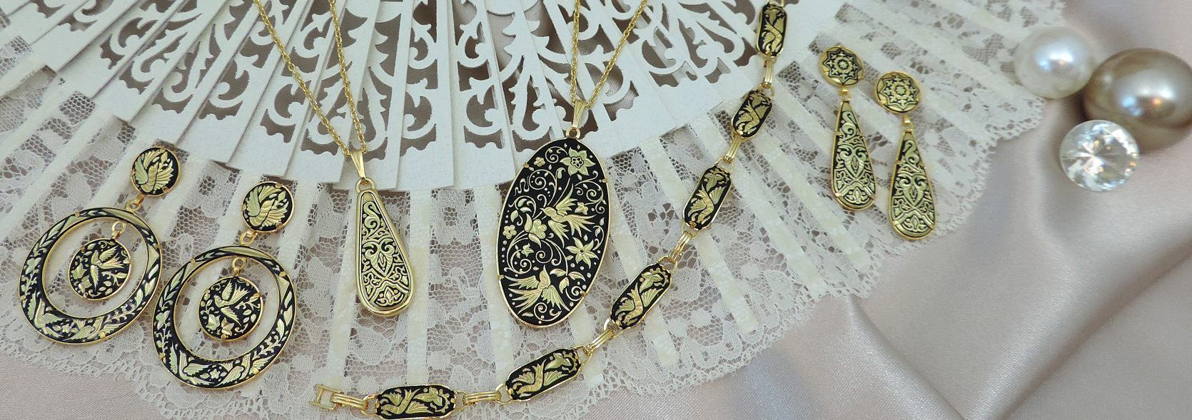 Damascene jewelry Toledo Spain